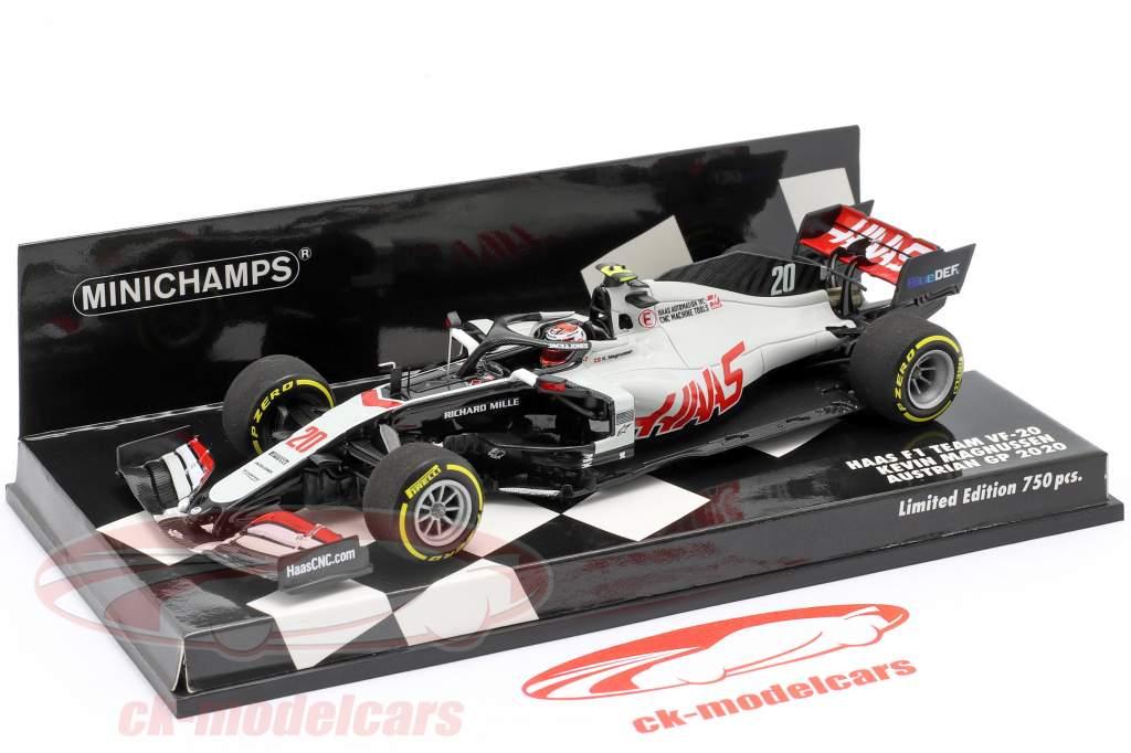 Kevin Magnussen Haas VF-20 #20 austríaco GP Fórmula 1 2020 1:43 Minichamps
