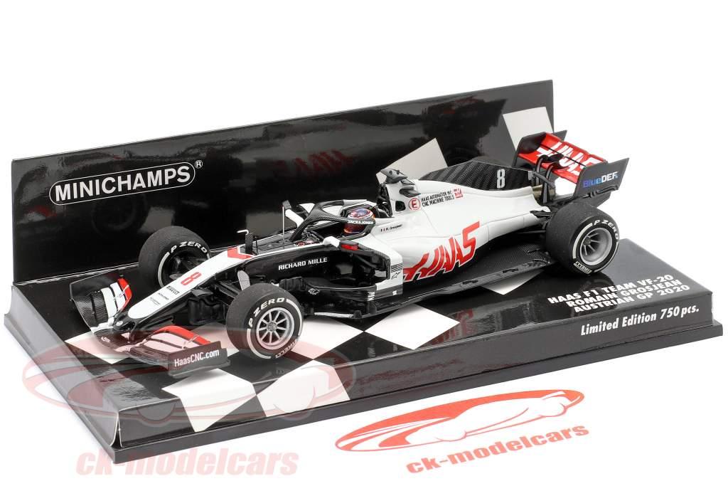 Romain Grosjean Haas VF-20 #8 Österreich GP Formel 1 2020 1:43 Minichamps