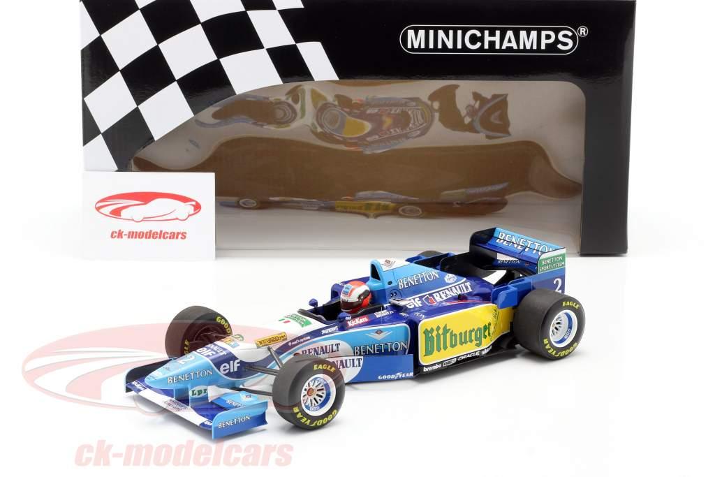 Johnny Herbert Benetton B195 #2 Winner British GP Formel 1 1995 1:18 Minichamps