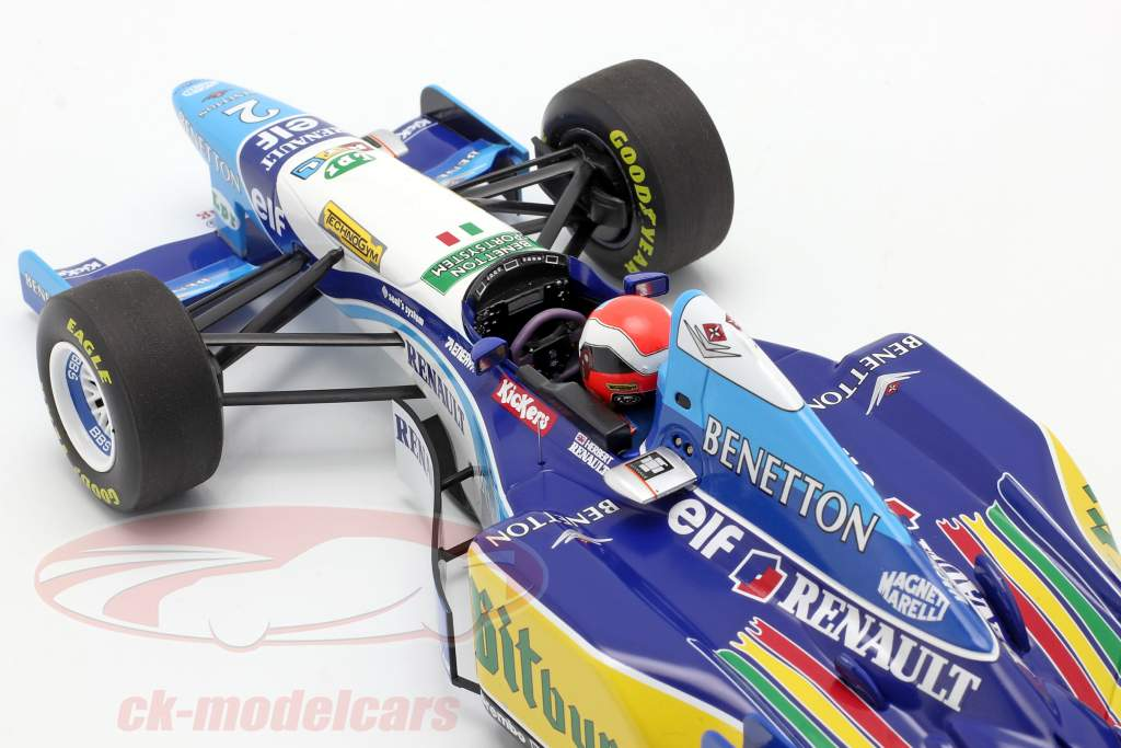 Johnny Herbert Benetton B195 #2 Ganador británico GP fórmula 1 1995 1:18 Minichamps