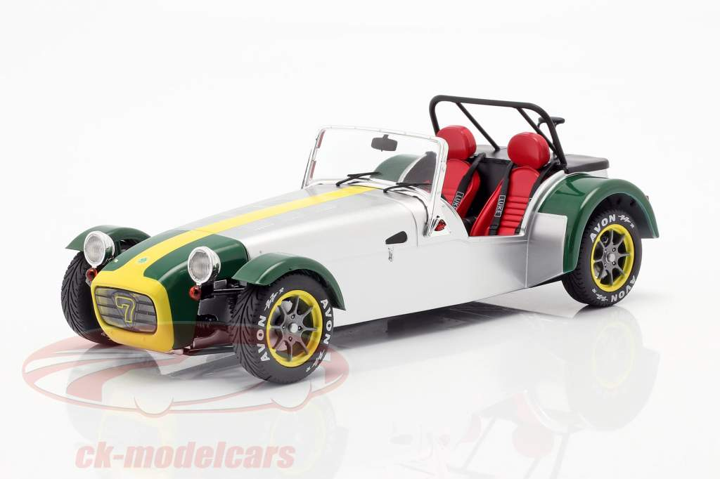 Lotus Seven Année de construction 1989 aluminium / vert 1:18 Solido