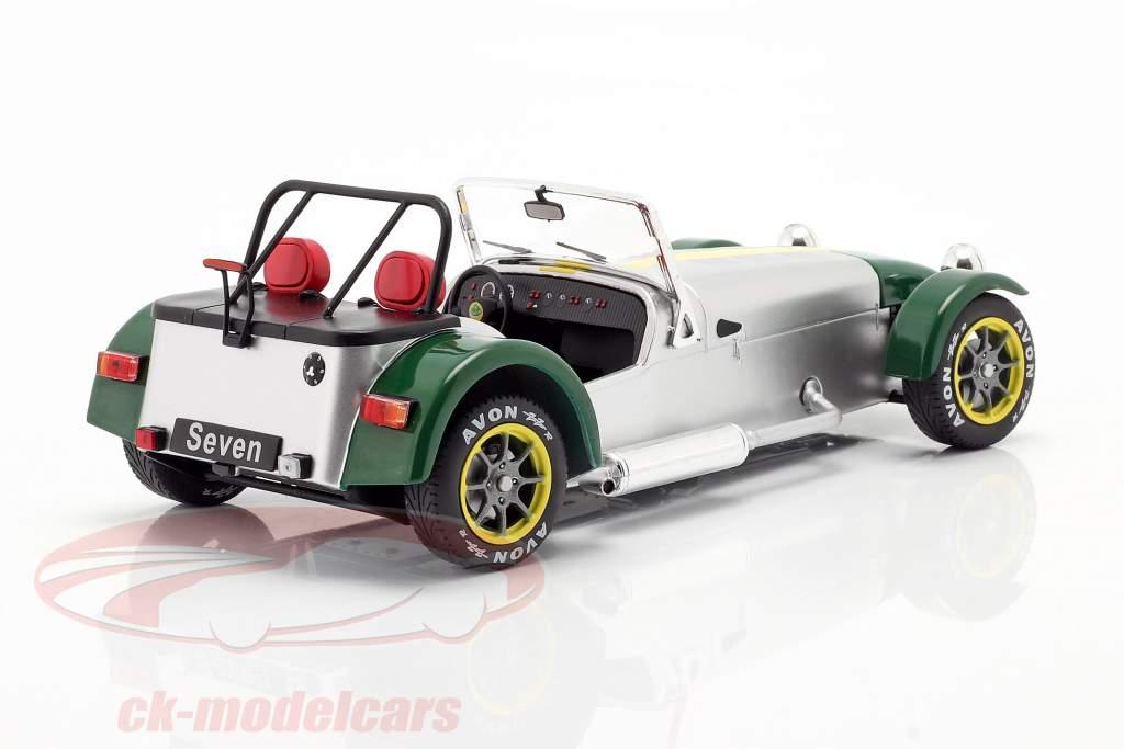 Lotus Seven Byggeår 1989 aluminium / grøn 1:18 Solido