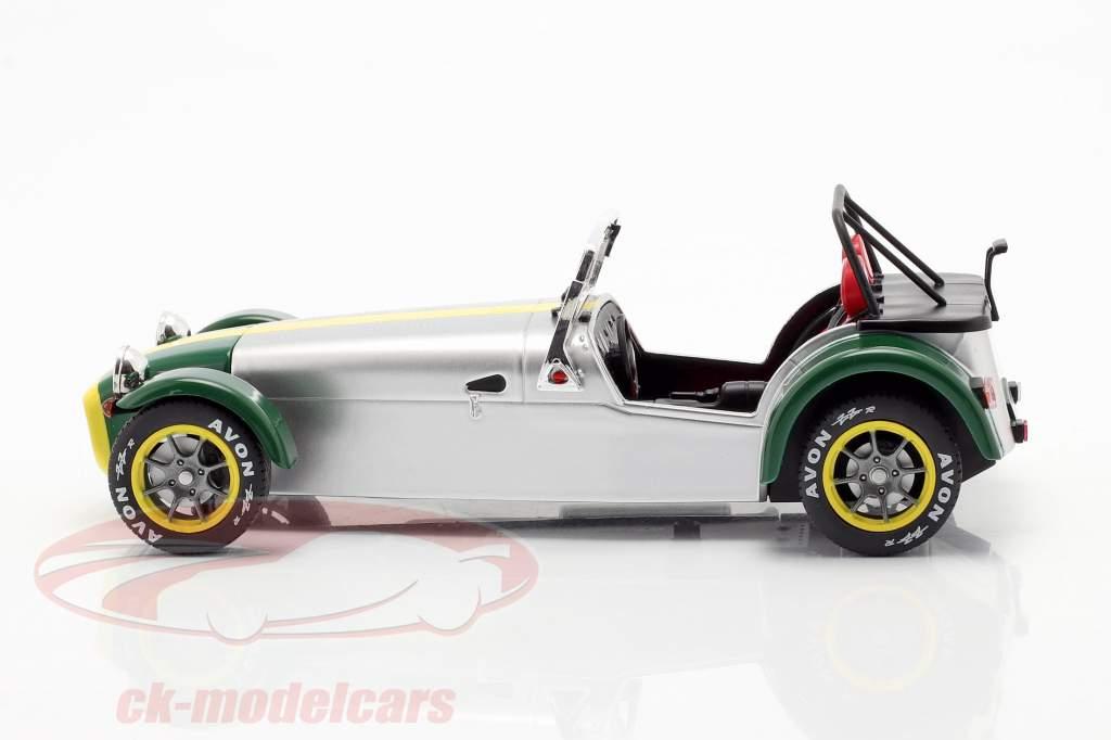 Lotus Seven Bouwjaar 1989 aluminium / groen 1:18 Solido