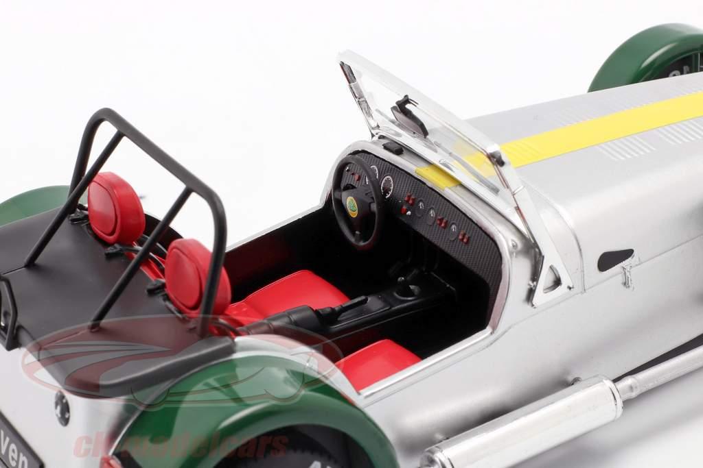 Lotus Seven Año de construcción 1989 aluminio / verde 1:18 Solido
