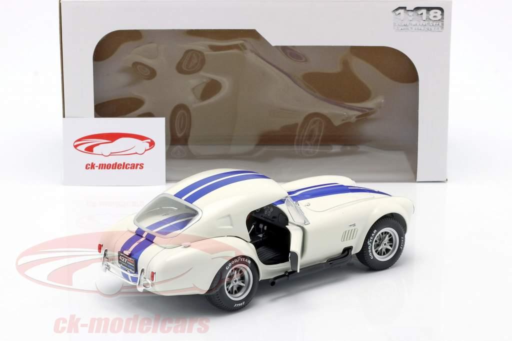 Shelby AC Cobra 427 Hardtop Ano de construção 1965 Branco / azul 1:18 Solido