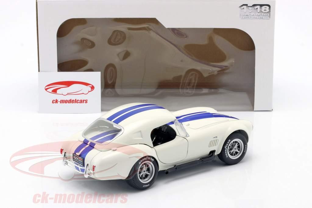 Shelby AC Cobra 427 Hardtop Anno di costruzione 1965 bianca / blu 1:18 Solido