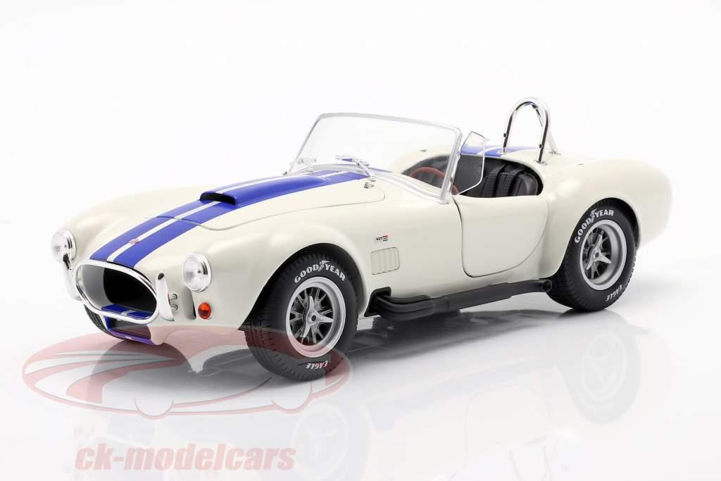 Shelby AC Cobra 427 Hardtop Baujahr 1965 weiß / blau 1:18 Solido