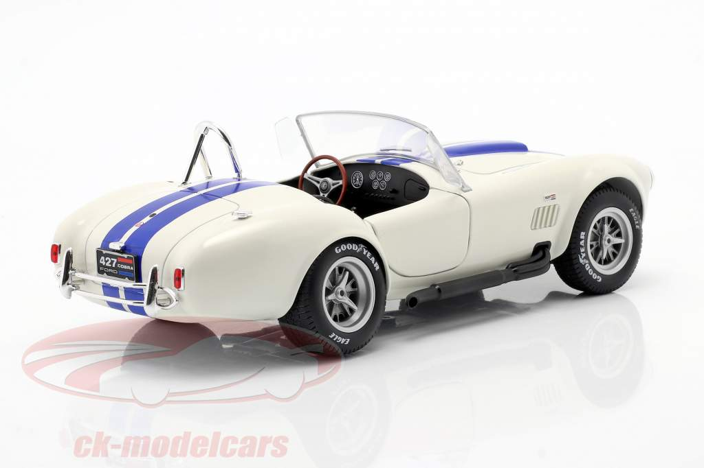 Shelby AC Cobra 427 Hardtop year 1965 white / blue 1:18 Solido
