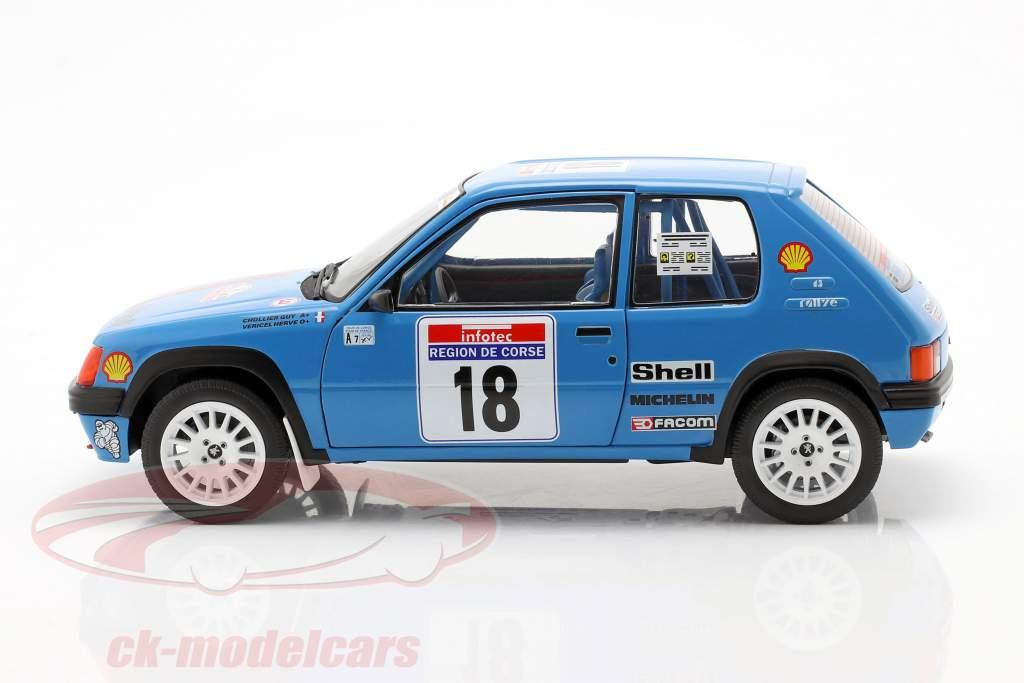 Peugeot 205 #18 Rallye Tour de Corse 1990 Vericel, Chollier 1:18 Solido