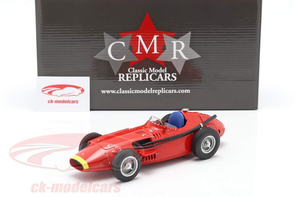 Maserati 250F formule 1 1957 Plain Body Edition rouge avec Jaune nez 1:18 CMR