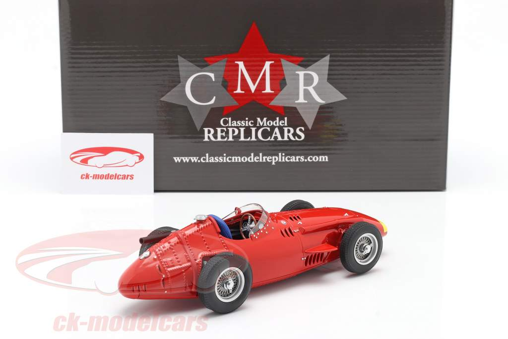 Maserati 250F Formel 1 1957 Plain Body Edition rot mit gelber Nase 1:18 CMR