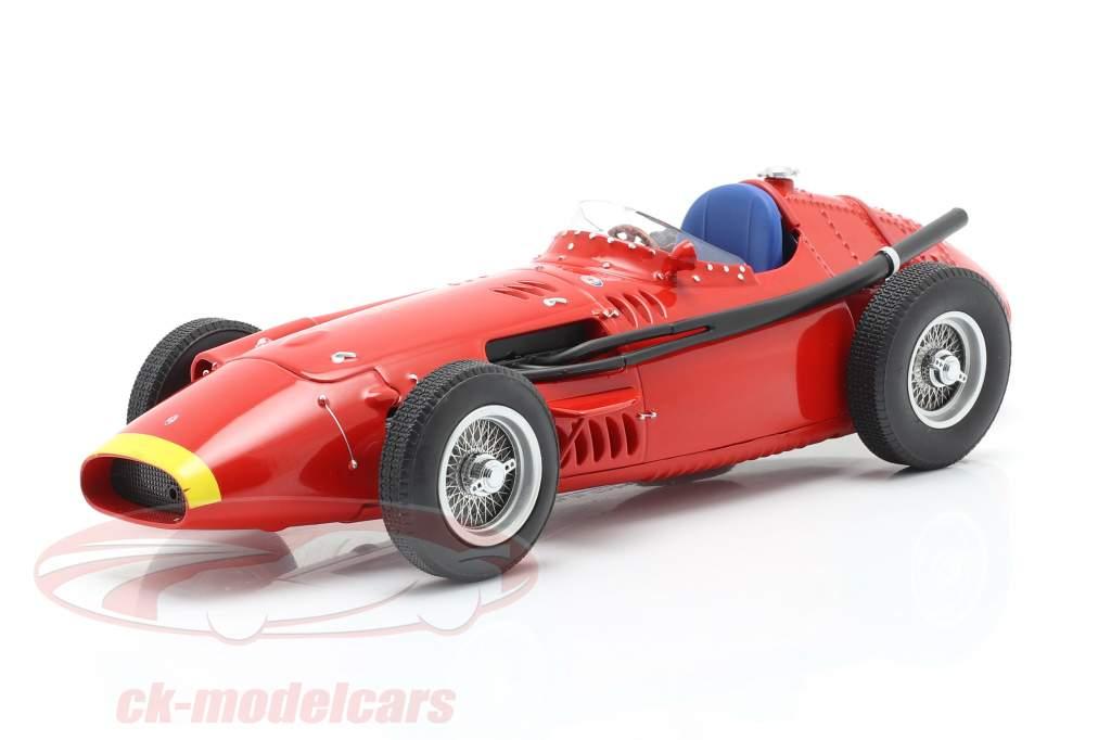Maserati 250F formula 1 1957 Plain Body Edition rosso con giallo naso 1:18 CMR