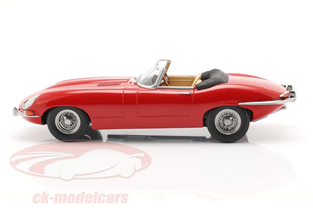 Jaguar E-Type Cabriolet Open Top Series 1 RHD 1961 vermelho 1:18 KK-Scale