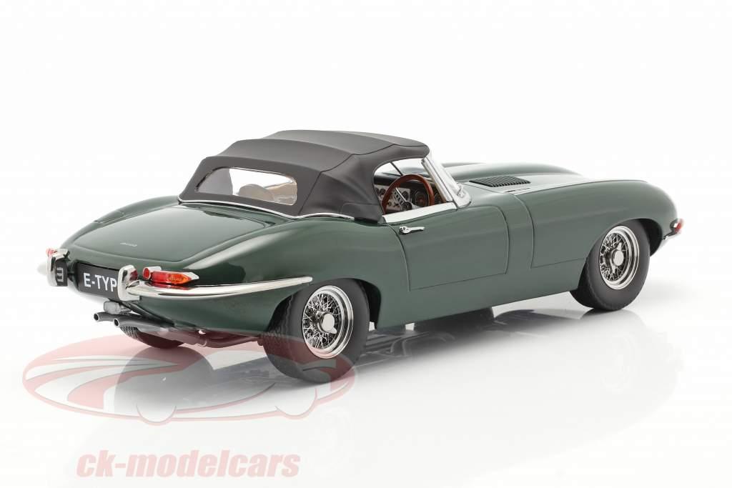 Jaguar E-Type Cabriolet Closed Top Series 1 RHD 1961 dunkelgrün 1:18 KK-Scale