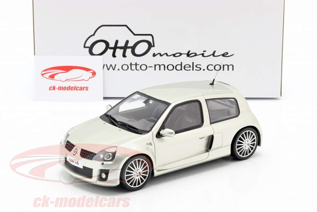 Renault Clio V6 Phase 2 year 2003 titanium grey 1:18 OttOmobile