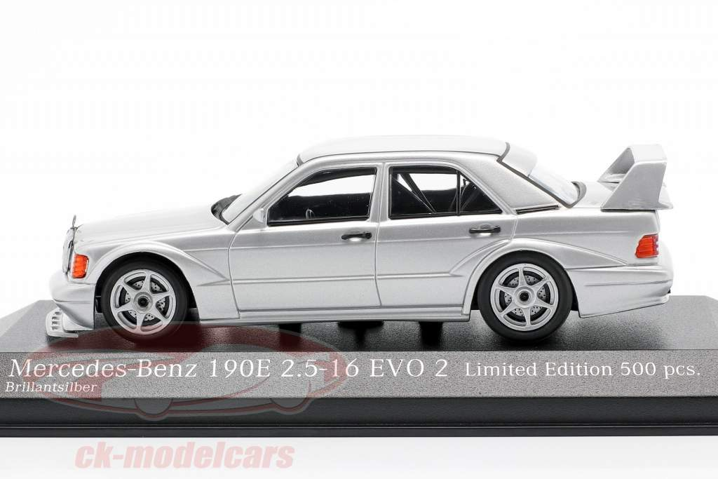 Mercedes-Benz 190E 2.5-16 Evo 2 year 1990 silver 1:43 Minichamps