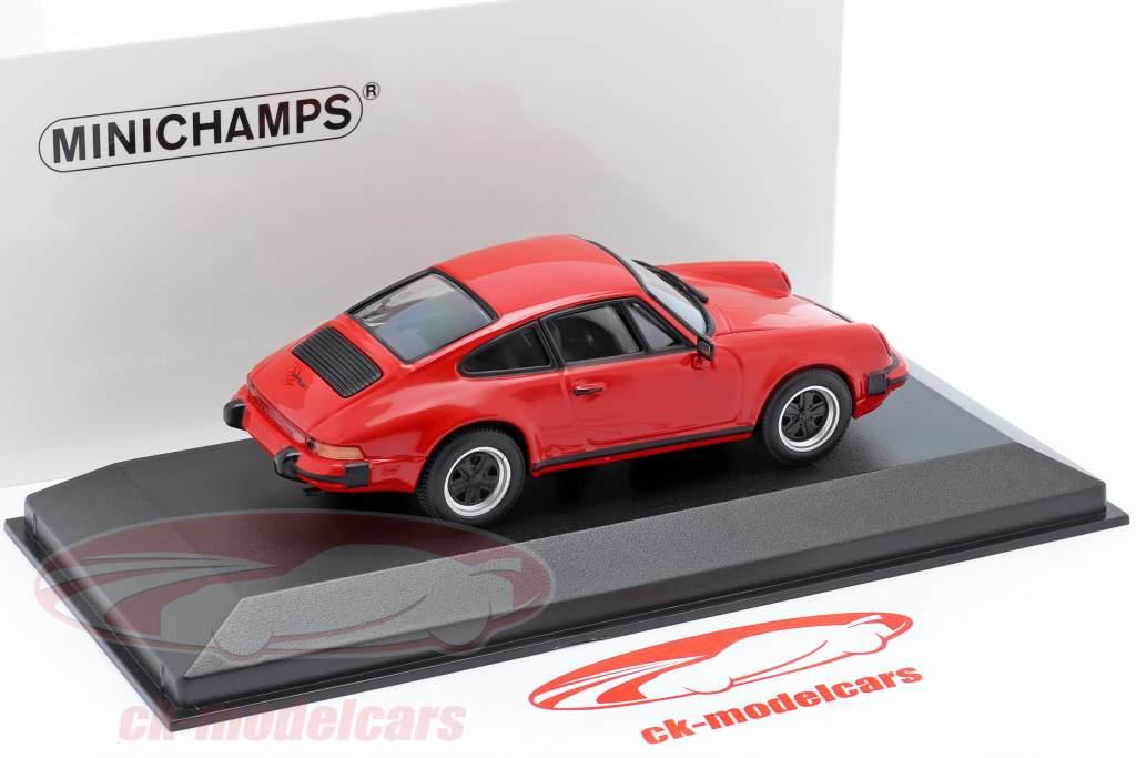 Porsche 911 SC Coupe Anno di costruzione 1979 rosso 1:43 Minichamps