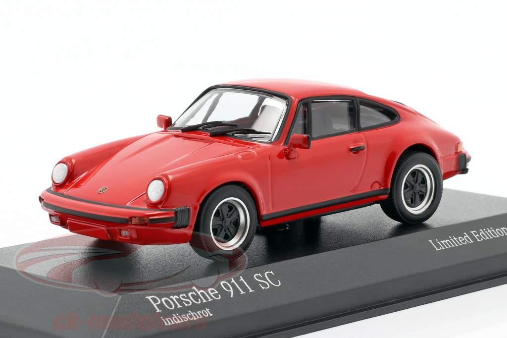 Porsche 911 SC Coupe Année de construction 1979 rouge 1:43 Minichamps