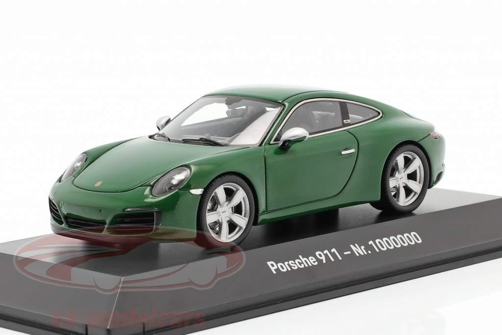 Porsche 911 (991 II) Carrera S 1000000 Porsche 911 2017 verde 1:43 Spark