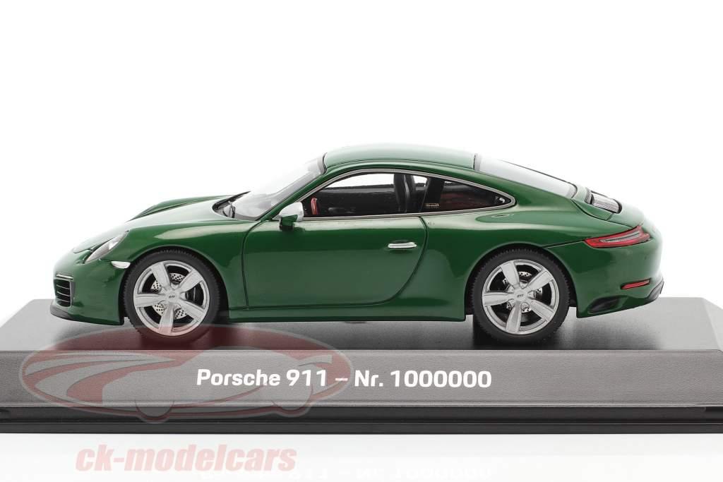 Porsche 911 (991 II) Carrera S 1000000th Porsche 911 2017 green 1:43 Spark