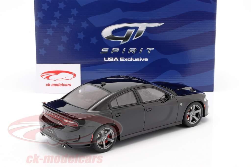 Dodge Charger SRT Hellcat Baujahr 2019 pechschwarz 1:18 GT-Spirit