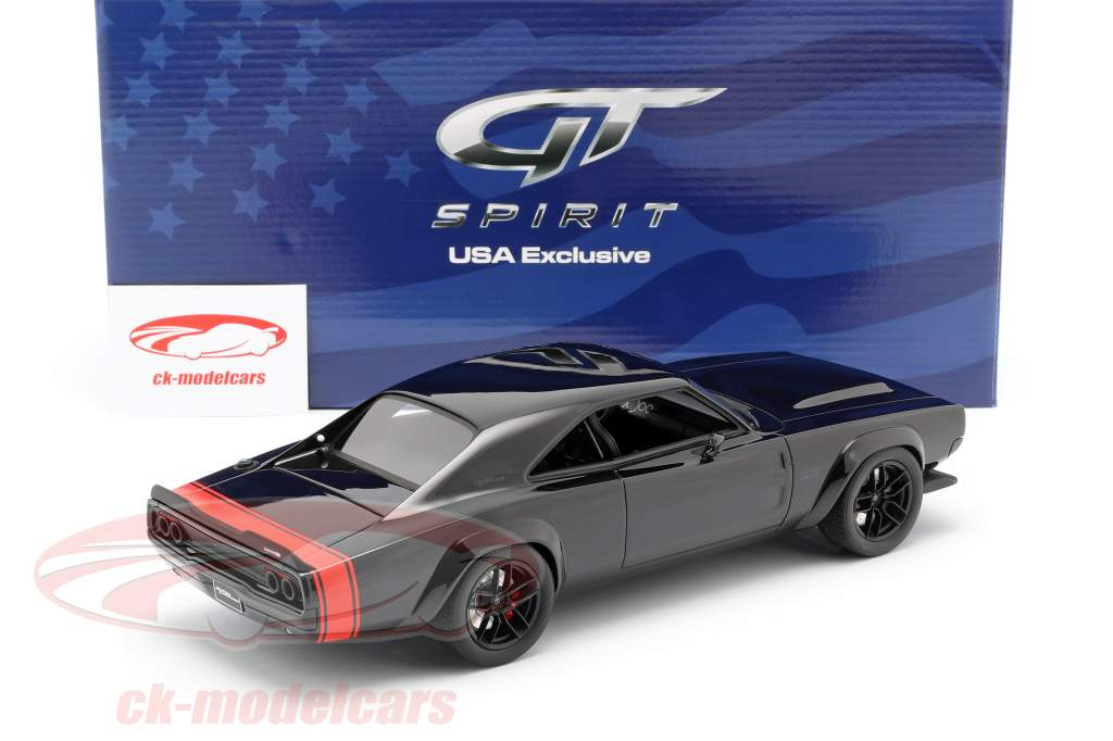 Dodge Super Charger SEMA Concept Car 1968 black / red 1:18 GT-Spirit