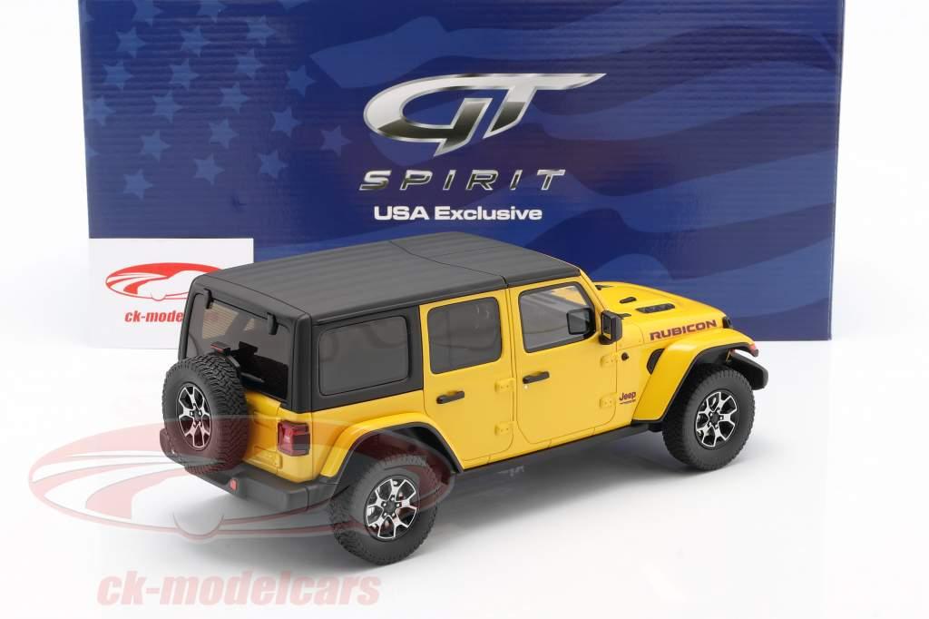 Jeep Wrangler Rubicon Hellayella Byggeår 2019 gul / sort 1:18 GT-Spirit