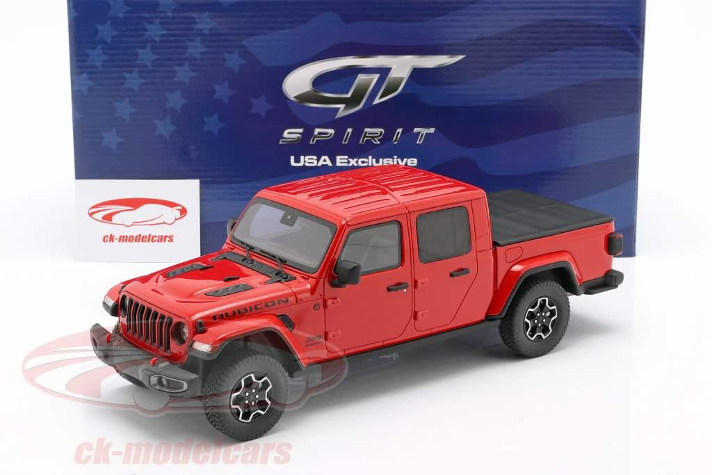Jeep Gladiator Rubicon Anno di costruzione 2019 firecracker rosso 1:18 GT-Spirit