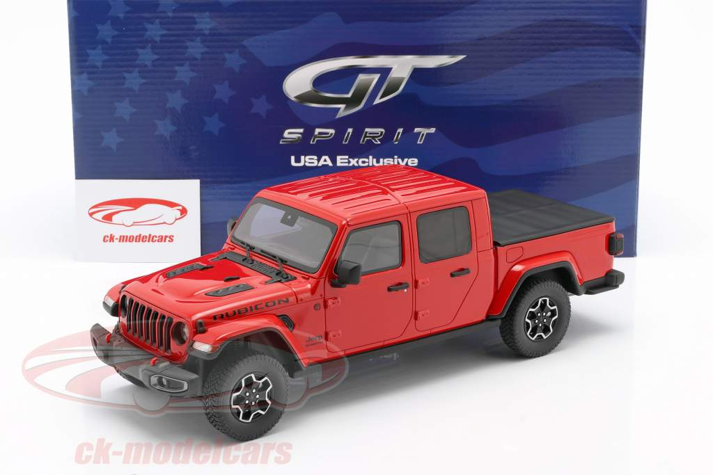 Jeep Gladiator Rubicon year 2019 firecracker red 1:18 GT-Spirit