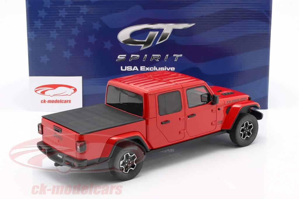 Jeep Gladiator Rubicon Bouwjaar 2019 firecracker rood 1:18 GT-Spirit