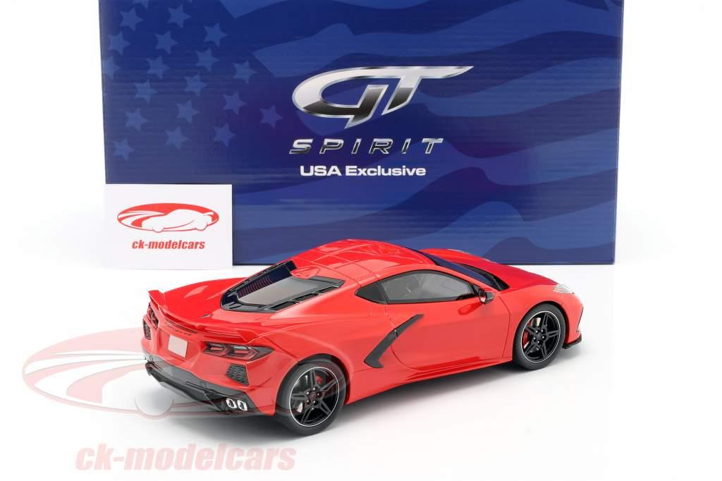 Chevrolet Corvette C8 Año de construcción 2020 antorcha roja 1:18 GT-Spirit