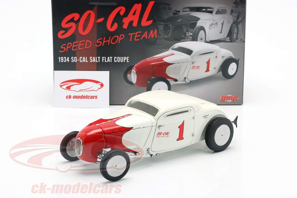 So-Cal Speed Shop Team 1 Salt Flat Coupe #1 1934 white / red 1:18 GMP