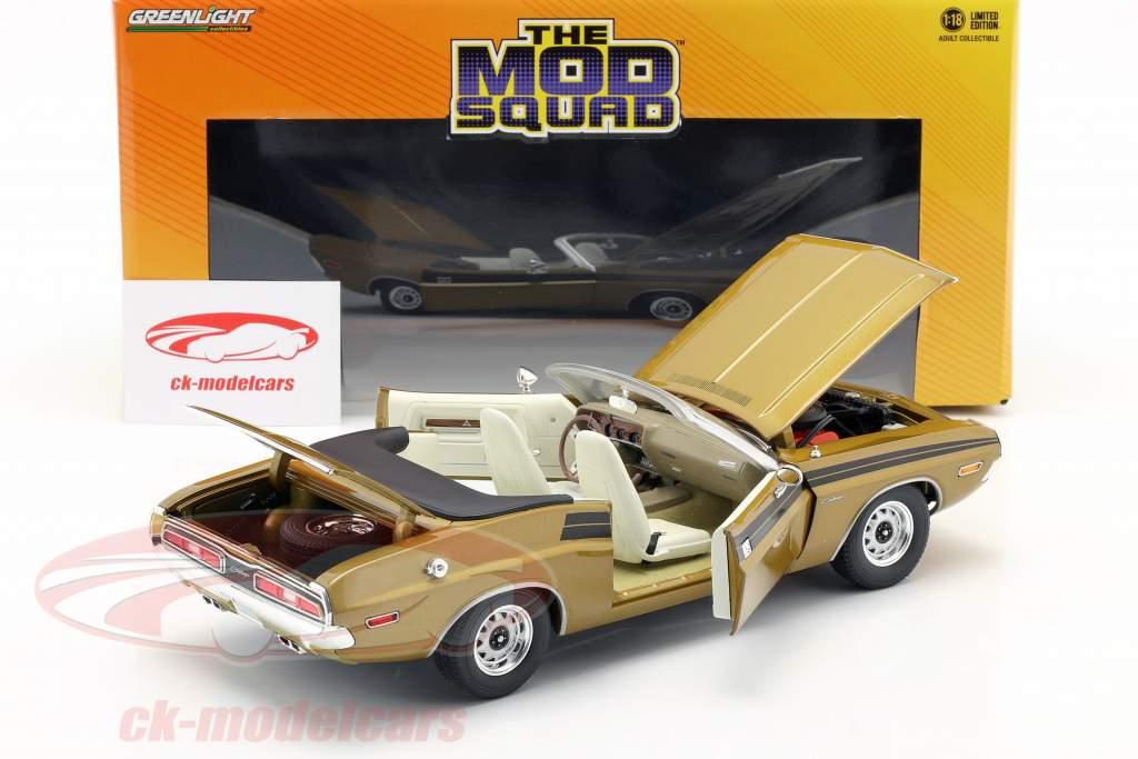 Dodge Challenger 340 1971 séries télévisées The Mod Squad (1968-73) or 1:18 Greenlight