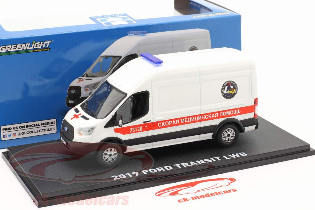 Ford Transit LWB Ambulance St. Petersburg year 2019 White 1:43 Greenlight