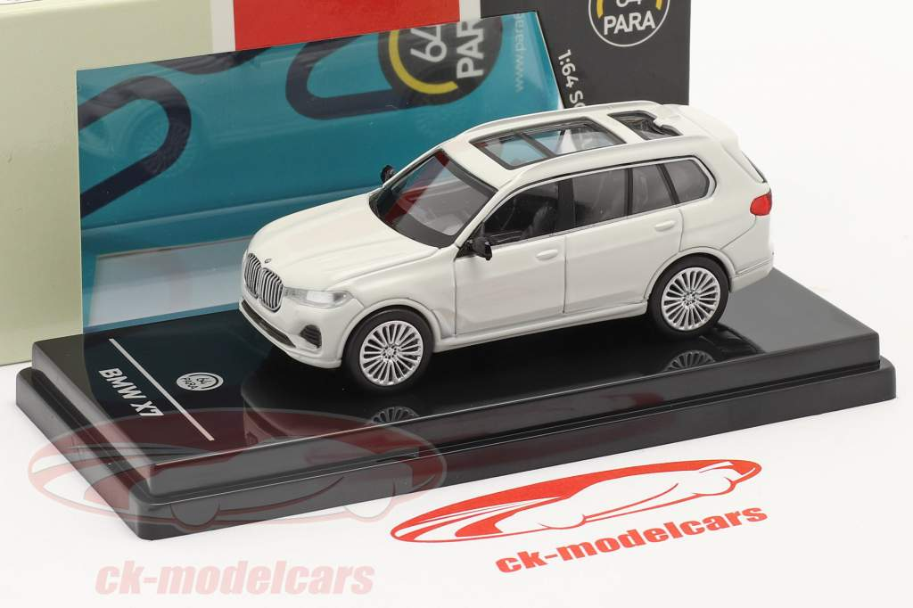BMW X7 (G07) LHD Ano de construção 2019 Branco 1:64 Paragon Models