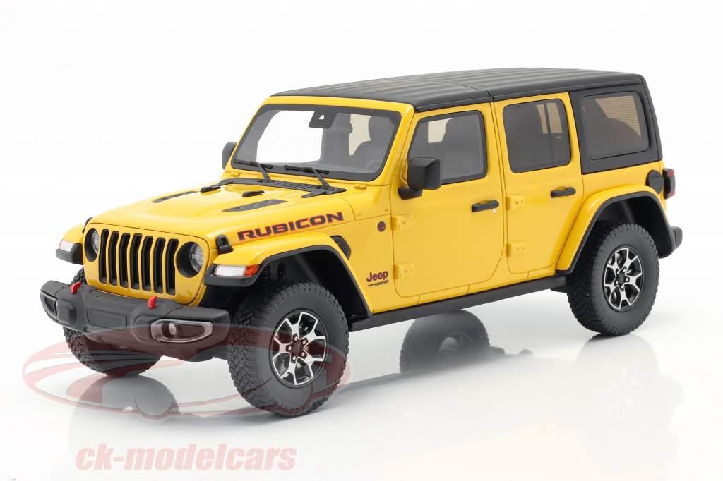 Jeep Wrangler Rubicon Hellayella 建设年份 2019 黄色 / 黑色 1:18 GT-Spirit