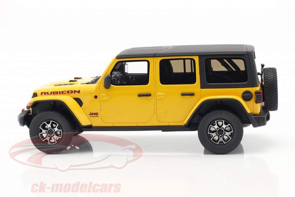 Jeep Wrangler Rubicon Hellayella Baujahr 2019 gelb / schwarz 1:18 GT-Spirit