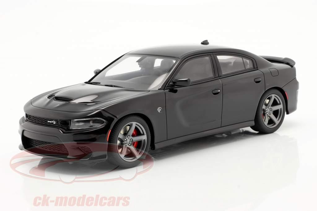 Dodge Charger SRT Hellcat 建设年份 2019 沥青 黑色 1:18 GT-Spirit