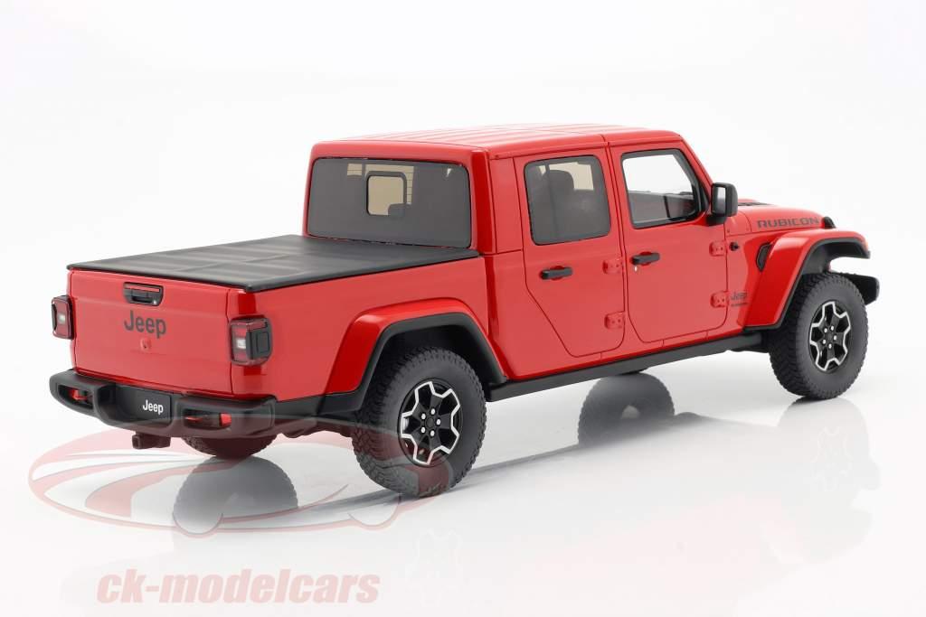 Jeep Gladiator Rubicon Année de construction 2019 firecracker rouge 1:18 GT-Spirit