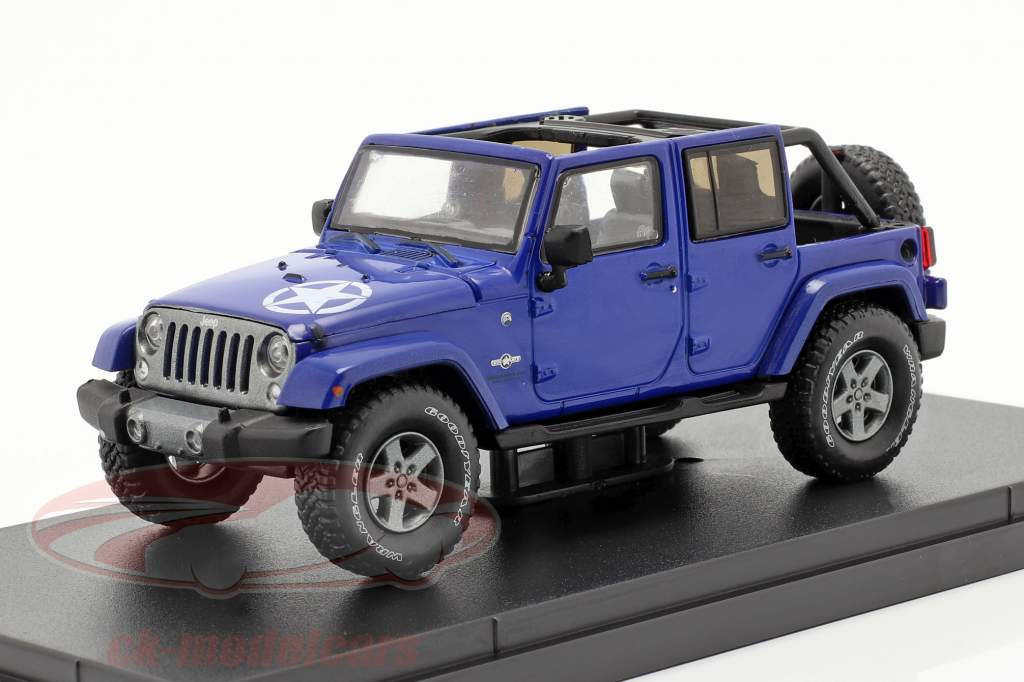 Jeep Wrangler Unlimited Freedom Edition 2019 blå 1:43 Greenlight