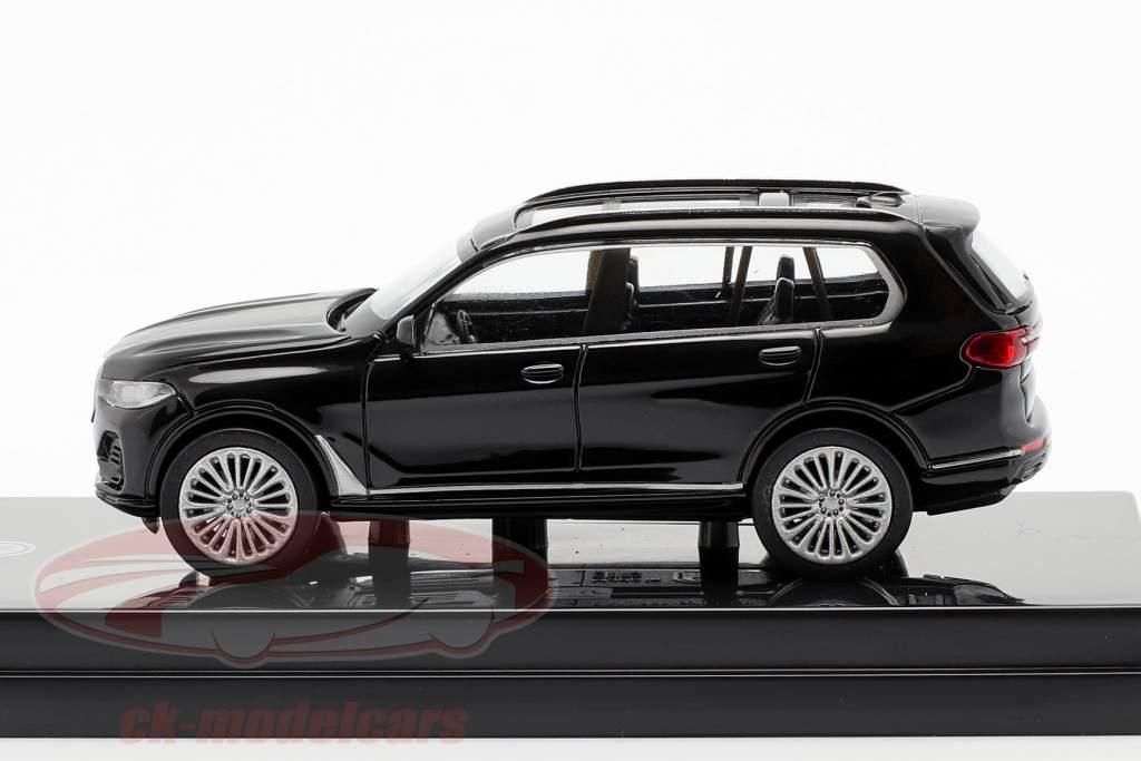BMW X7 (G07) LHD Bouwjaar 2019 zwart 1:64 Paragon Models