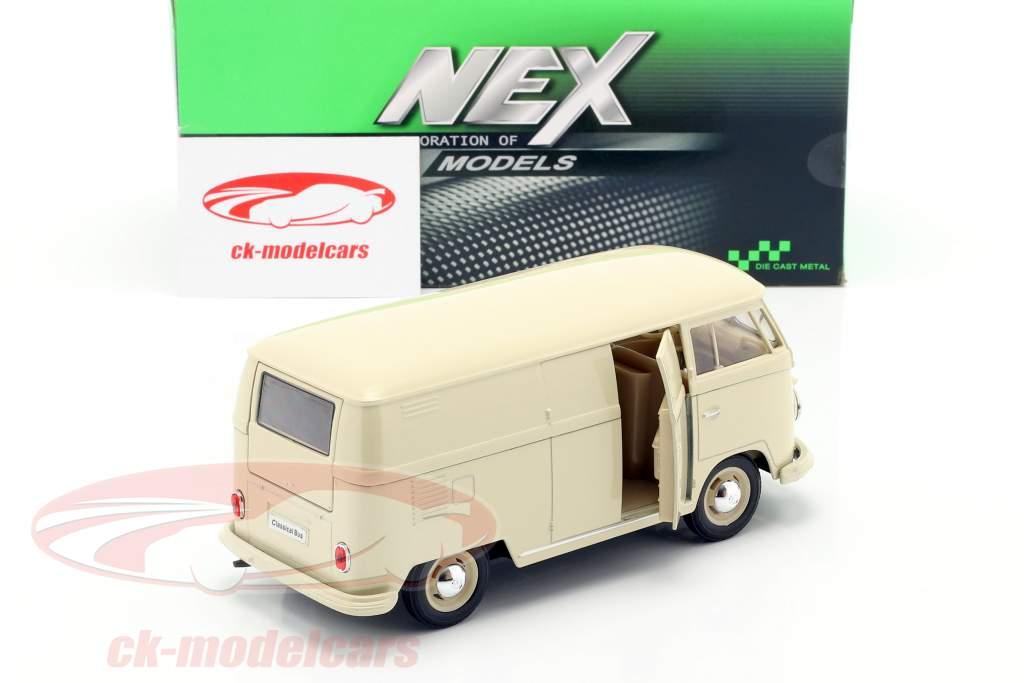 Volkswagen VW Bulli T1 camioneta Año de construcción 1963 crema Blanco 1:24 Welly