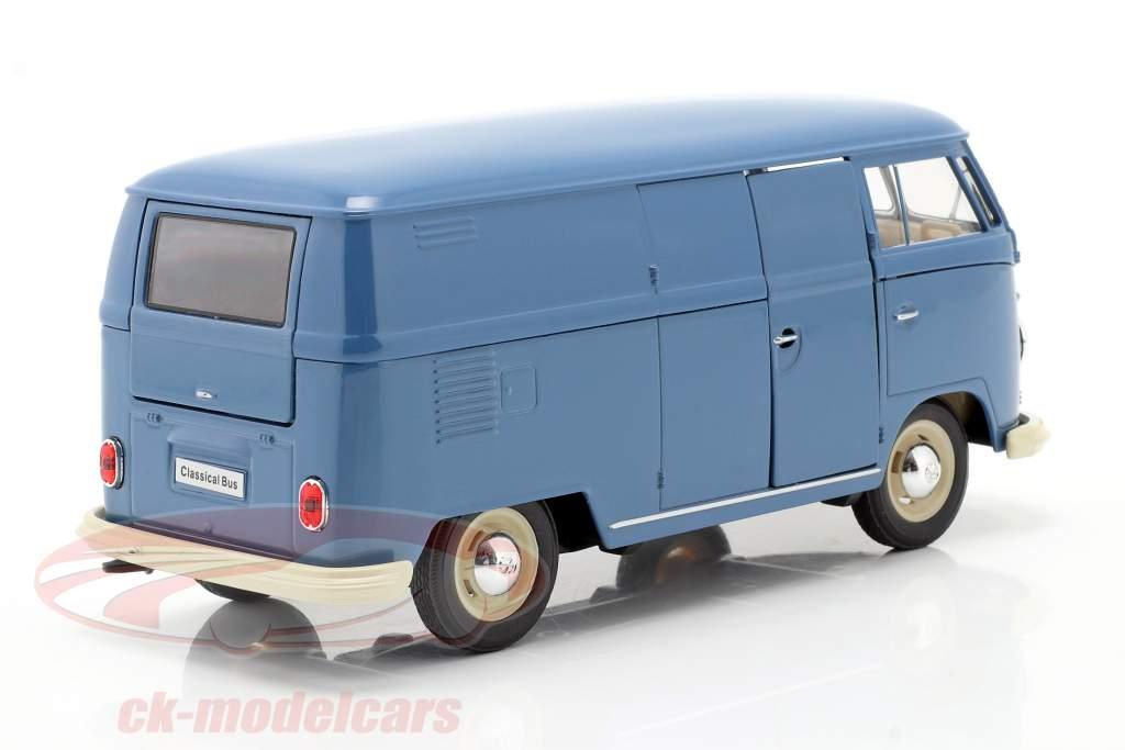 Volkswagen VW Bulli T1 Van Byggeår 1963 blå 1:24 Welly