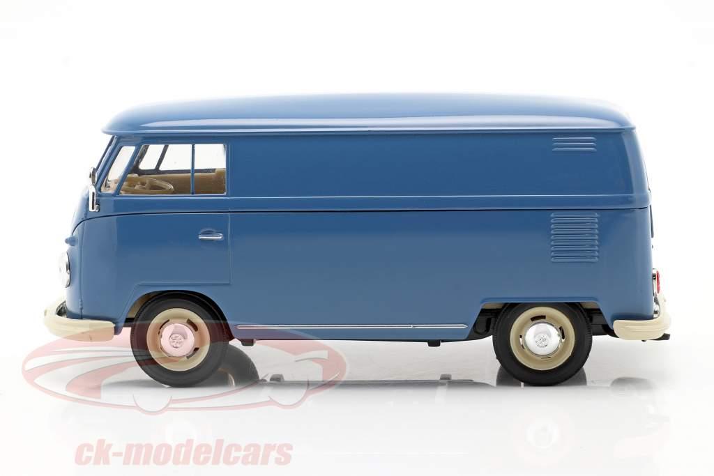 Volkswagen VW Bulli T1 Kastenwagen Baujahr 1963 blau 1:24 Welly