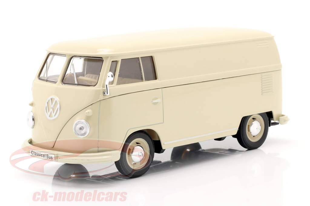 Volkswagen VW Bulli T1 Van Bouwjaar 1963 room Wit 1:24 Welly