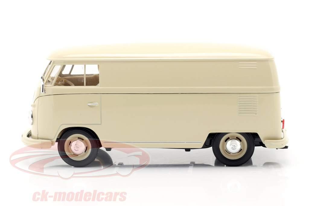 Volkswagen VW Bulli T1 furgão Ano de construção 1963 creme Branco 1:24 Welly