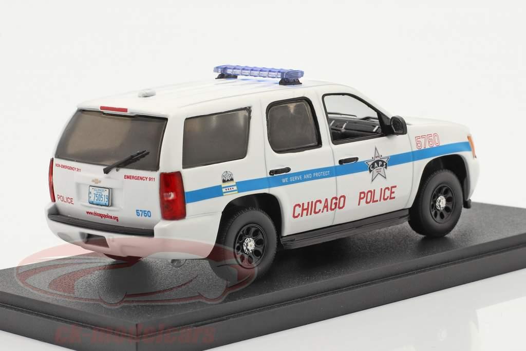 Chevrolet Tahoe Chicago Het beleid 2010 Wit 1:43 Greenlight