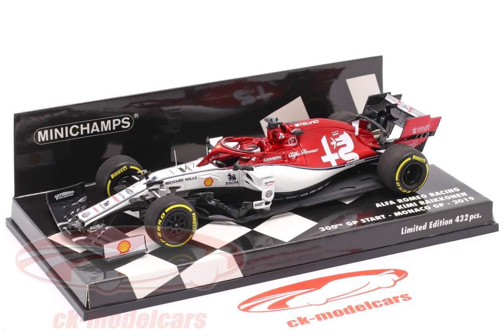 Kimi Räikkönen Alfa Romeo C38 #7 300th Formel 1 GP Monaco 2019 1:43 Minichamps