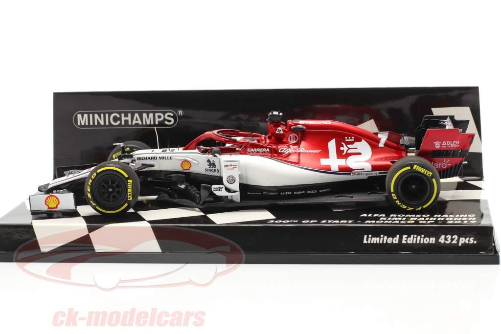 Kimi Räikkönen Alfa Romeo C38 #7 300th formula 1 GP Monaco 2019 1:43 Minichamps