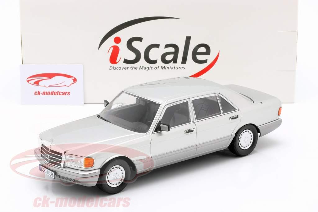 Mercedes-Benz 560 SEL S-Klasse (W126) 1985 astralsilber / grau 1:18 iScale
